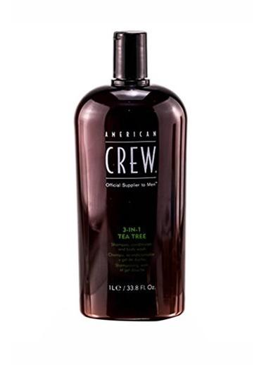 American Crew 3'Ü 1 Arada Çay Ağaci Özlü Saç Ve Vücüt Şampuani 1000 Ml Renksiz